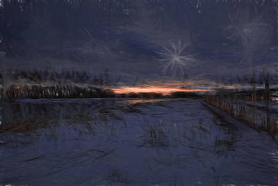 Artistic Painterly 2 Early Morning January 2015 Poster by Leif Sohlman