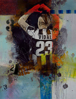Arturo Vidal - D Poster by Corporate Art Task Force