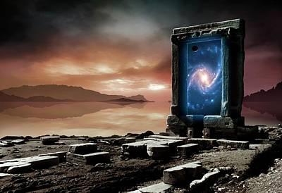 Artwork Of An Inter-dimensional Gateway Poster by Mark Garlick