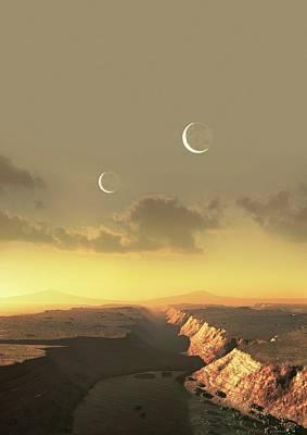 Artwork Of Exoplanet Kepler 452b Poster by Mark Garlick