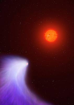 Artwork Of Mass-losing Planet Gj 436b Poster by Mark Garlick