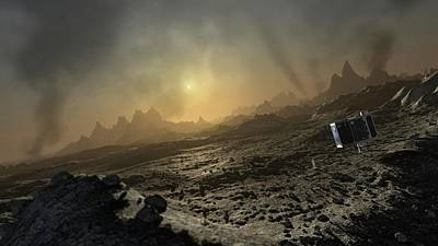 Artwork Of Philae Lander On Comet 67p Poster by Mark Garlick