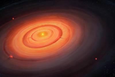 Artwork Of The Solar Nebula Poster by Mark Garlick