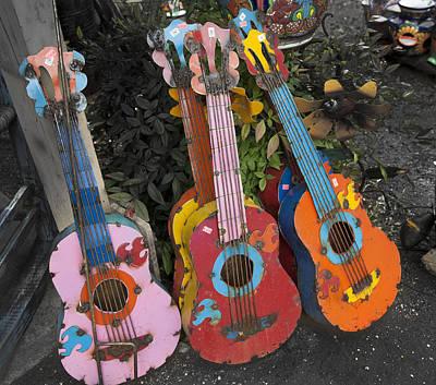 Arty Yard Guitars Poster by Greg Kopriva
