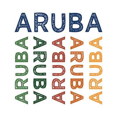 Aruba Cute Colorful Poster by Flo Karp