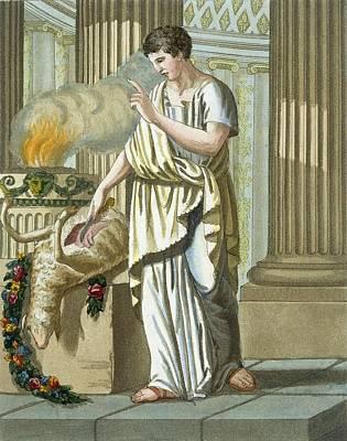 Aruspice, From Lantique Rome, Pub. 1796 Poster by Jacques Grasset de Saint-Sauveur