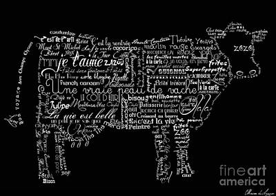 As The French Say... Vache Poster by Marion De Lauzun