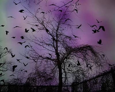 As The Night Turned Poster by Gothicolors Donna Snyder