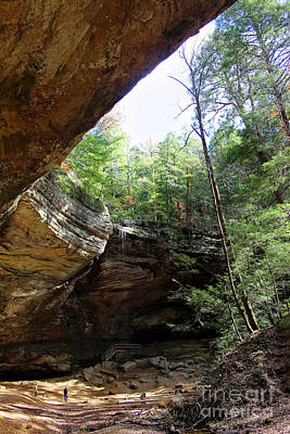 Ash Cave Of The Hocking Hills Poster by Karen Adams