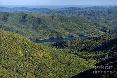 Asheville Watershed In The Blue Ridge Mountains Poster by David Oppenheimer