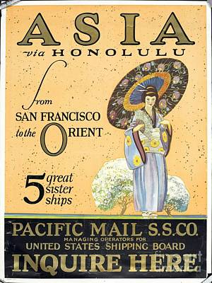 Asia Via Honolulu Poster by Celestial Images