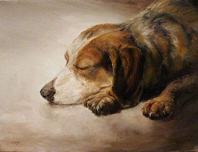 Asleep Poster by Diane Kraudelt
