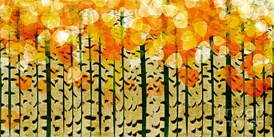 Aspen Colorado Abstract Panorama 4 Poster by Andee Design