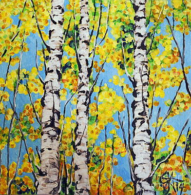 Aspen Gold Poster by Jackie Carpenter