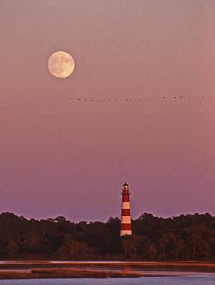 Assateague Lighthouse Va Poster by Skip Willits