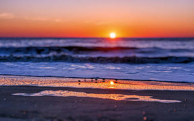 Assateague Sunrise - Ocean - Virginia Poster by SharaLee Art