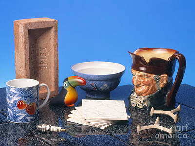 Assortment Of Familiar Ceramic Objects Poster by Martyn F. Chillmaid