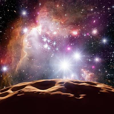 Asteroid And Star Cluster Poster by Detlev Van Ravenswaay