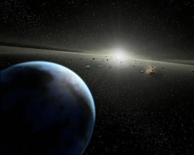 Asteroid Belt Orbiting A Star Poster by Nasa/jpl-caltech