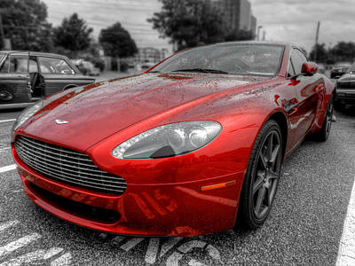Aston Martin V8 Vantage Coupe 001 Poster by Lance Vaughn