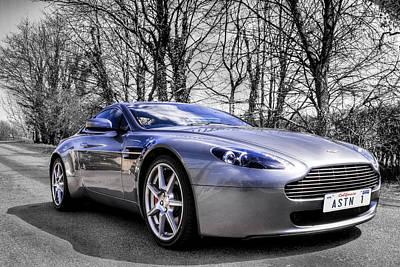 Aston Martin V8 Vantage Poster by Ian Hufton