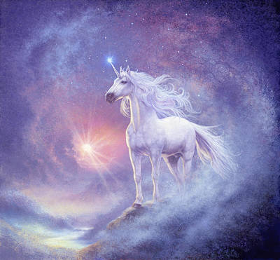 Astral Unicorn Poster by Steve Read