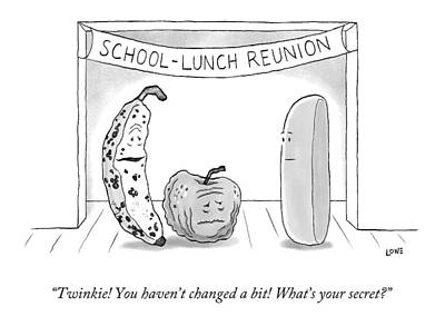 At A School Lunch Reunion Poster by Christian Lowe