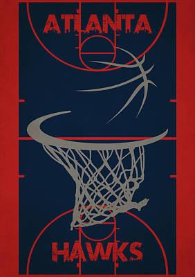 Atlanta Hawks Court Poster by Joe Hamilton