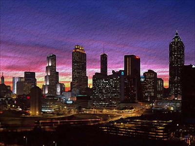Atlanta Skyline Poster by  Fli Art