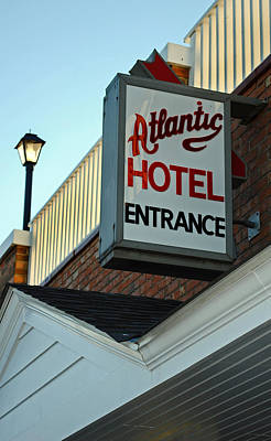 Atlantic Hotel Poster by Skip Willits