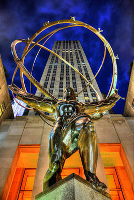Atlas Statue At Rockefeller Center Poster by Randy Aveille
