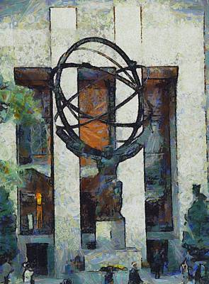 Atlas Statue Rockefeller Center Poster by Dan Sproul