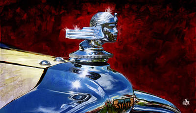 1929 Auburn 8-120 Boat-tail Speedster Hood Ornament Poster by Garth Glazier