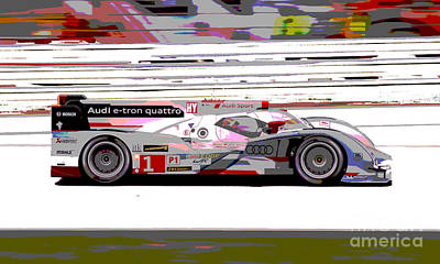 Audi R18 E-tron Poster by Pixelated Foto