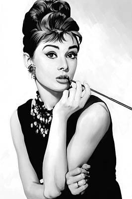 Audrey Hepburn Artwork Poster by Sheraz A