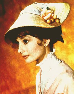 Audrey Hepburn - Impressionism Poster by Georgiana Romanovna