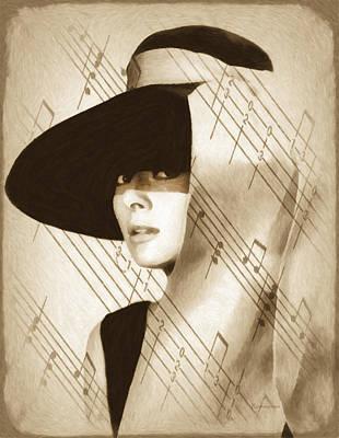 Audrey Hepburn Vintage Poster by Georgiana Romanovna
