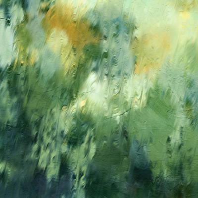 Aurora Borealis Abstract Poster by Georgiana Romanovna