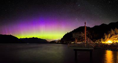 Aurora Borealis Near Vancouver Poster by Alexis Birkill