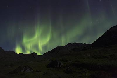 Aurora Borealis Northern Lights Dancing Poster by Lucas Payne
