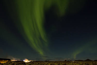 Aurora Borealis Over Iceland Poster by Andres Leon