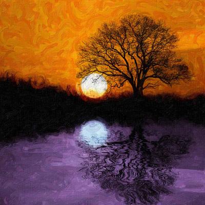 Aurora Goddess Of The Dawn Poster by Tom Mc Nemar