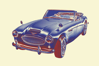 Austin Healey 300 Sports Car Pop Image Poster by Keith Webber Jr