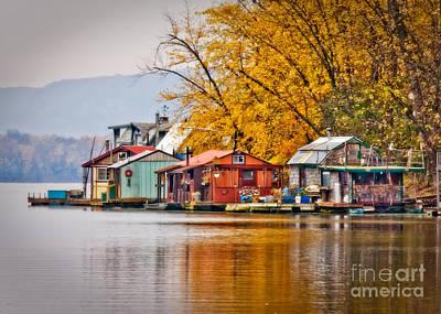 Autumn At Latsch Island Poster by Kari Yearous