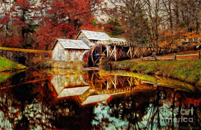 Autumn At Mabry Mill Poster by Lianne Schneider
