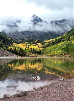 Autumn At Maroon Bells In Colorado Poster by Julie Magers Soulen