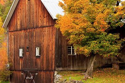 Autumn Barn Near North Wolcott Poster by Brian Jannsen