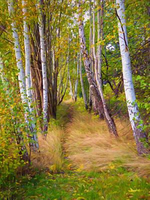 Autumn Birches Poster by Impressionist Art