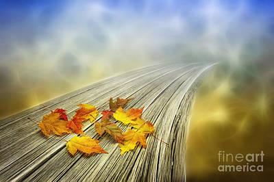 Autumn Bridge Poster by Veikko Suikkanen