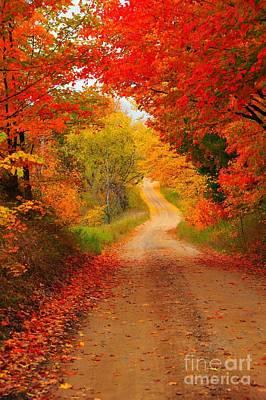 Autumn Cameo Poster by Terri Gostola
